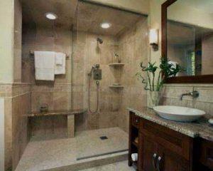 Remodelação de casa de banho grande duche