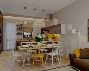 Decoração de interiores de apartamentos